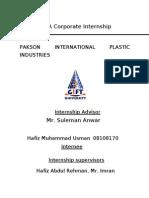65946683 BBA Corporate Internship Report on Pakson Industries Boss Pakistan