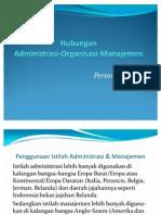 Hubungan Adm Orgn Manajemen Pptx