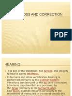 Hearing Loss and Correction