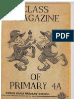 Class Magazine of Kebun Baru Primary School Class 4A (1989)