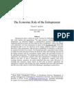 Economic Role of the Entrepreneur