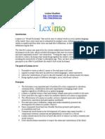 The Leximo Dictionary Manifesto