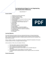 Understanding the Geotechnical Report as an Engineering and Construction Reference