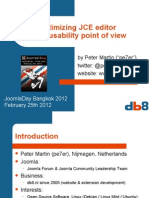 Optimizing JCE editor from usability point of view