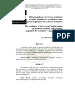 """O tratamento do """"erro"""" nas produções textuais"""