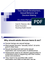 Sexual Behavior and Teens - Community Presentation
