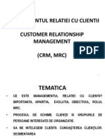 Managementul Relatiei Cu Clientii