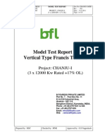 Chanju-I Model Test Report