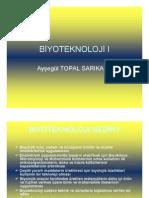 Biyoteknoloji I