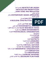 مصطلحات معمارية مترجمة
