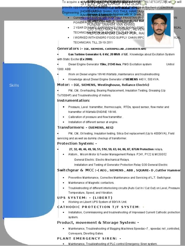 MIQDAD CV Relay Electric Generator - Alstom electromagnetic relay catalogue