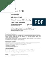 50819941 Edexcel Statistics S1 January 2011