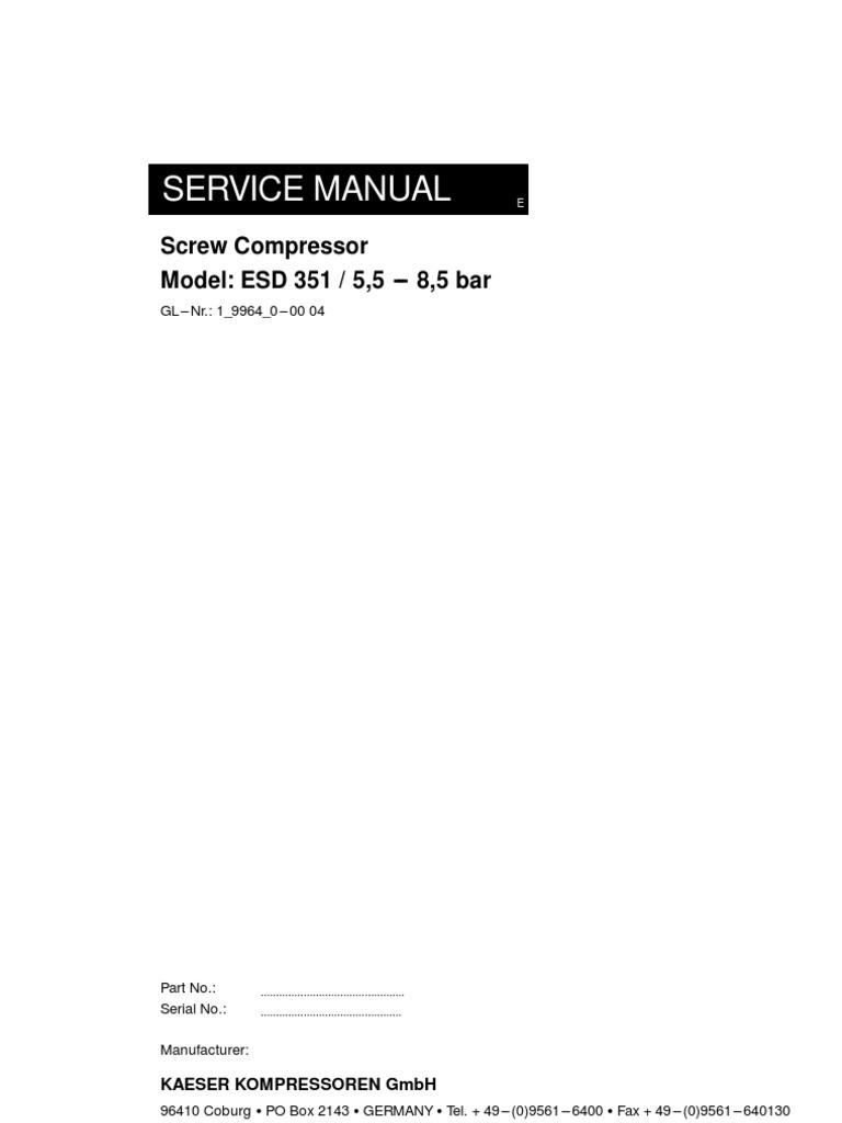 compressor manual kaeser 1 9964 0 00 8 5bar gas compressor fuse rh es scribd com