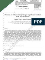 Theories of Behavior in Principal-Agent Relationships With Hidden Action