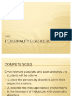 Personality Disorders 2011