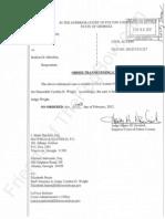 2012-02-24 - SWENSSON v Obama - Order Transferring Case