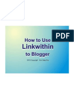 How to Use Link Within to Blogger