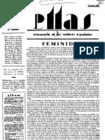Revista ELLAS, director José María Pemán