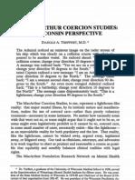 Coercion Studies