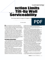 Deflection Limits for Tilt-Up Wall Serviceability - The History B