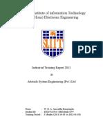 Anuradha Ranasinghe - Industrial Training Report