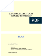 La Gestion Des Stocks (Wilson)