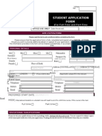 Student Application Form Oct2011
