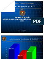 Anuar Statistic Privind Situatia Migration Ala in RM in Anul 2006