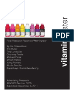 Vitaminwater Advertising Research Report