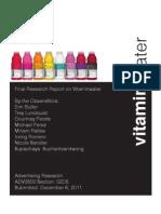 Vitaminwater Advertising Research Report