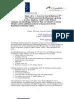 Foster McCollum White & Associates and Baydoun Consulting 2012 Michigan Republican Primary Voter Poll Press Release