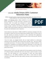 Social Media Drives 60% Customer Retention Rate