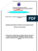 BASES PARA LA CONTRATACIÓN DE SERVICIOS DE CONSULTORÍA DE OBRA - cañete