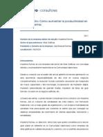 Caso de Exito 2011 Aumento Productividad Red de Venta Navarro Consult Ores