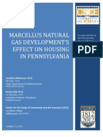 Marcellus Natural Gas Development's Effect on Housing in Pennsylvania by the The Center for the Study of Community and the Economy at Lycoming College, October 2011