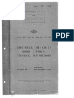 AMF Engineer-In-Chief Bomb Disposal Technical Instructions 1944