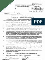 Timothy Paul Keim CF-2000-00570 Waiver of Preliminary Hearing