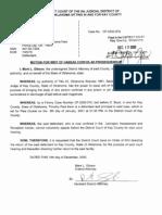 Timothy Paul Keim CF-2000-00570 Writ of Hebeas Corpus