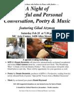 Gilad Atzmon - Conversation, Poetry & Music
