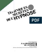 Tepperwein Kurt  - Les techniques secrètes de l'hypnose - T01