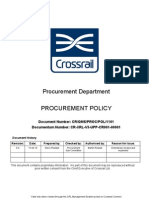 Crossrail Procurement Policy