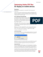 Optimizing PDF Documents for Mobile Devices