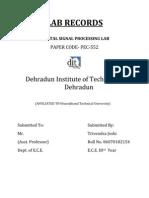 Trivendra Joshi- Dsp File Record