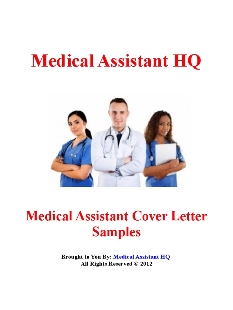 Here Is A Sample Cover Letter For Medical Assistant Job Your Name