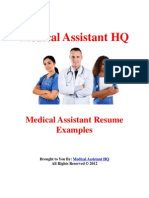 Medical Assistant Resume Examples
