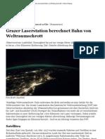 Grazer Laser Station Berechnet Bahn Von Weltraumschrott