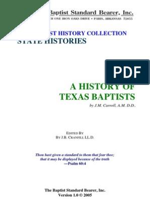 Carroll - A History of Texas Baptists - J  M  Carroll
