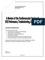 A Review of the Cardiovascular System and ECG Performance, Troubleshooting, And Interpretation