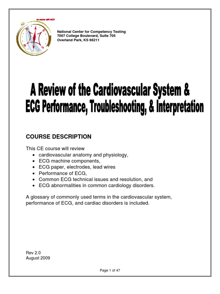 A Review of the Cardiovascular System and ECG Performance ...