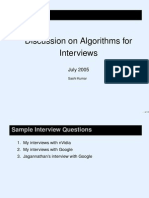 Algorithm Interview Slides